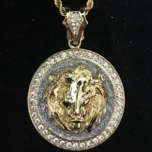 Other - BIG LION DIAMONDS cz 18K GOLD CHAIN MADE IN ITALY